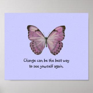 Poster púrpura de la mariposa