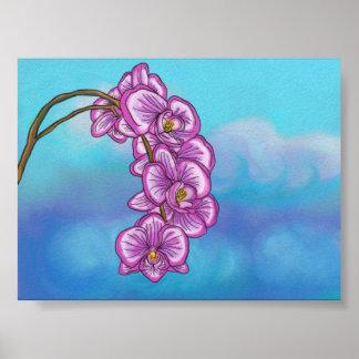 Poster púrpura de la orquídea