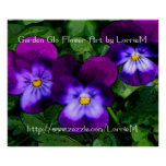Poster púrpura de las violetas