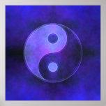 Poster púrpura de Yin Yang
