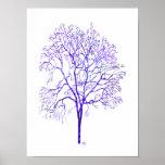 Poster púrpura del árbol