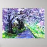 Poster púrpura del camino de PMACarlson