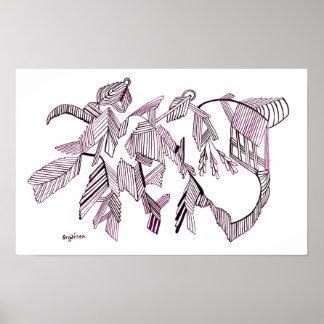 Poster púrpura del cristal del vuelo