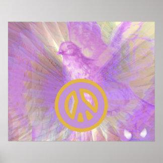 Poster púrpura del deslumbramiento de las alas ang