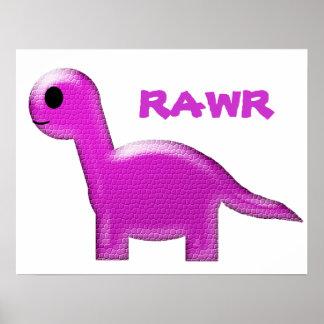 Poster púrpura del dinosaurio