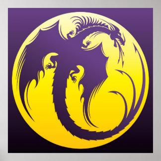 Poster púrpura del dragón