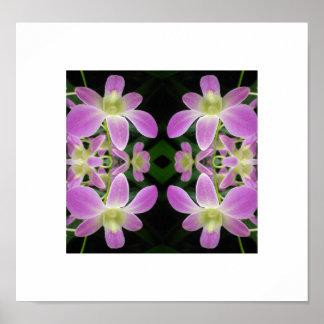 Poster púrpura del extracto de la orquídea