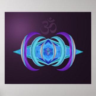 Poster púrpura en colores pastel de Dharma OM