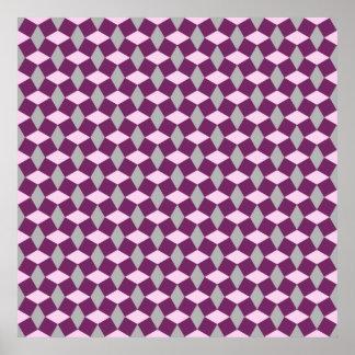 Poster púrpura/gris/del rosa magenta del modelo