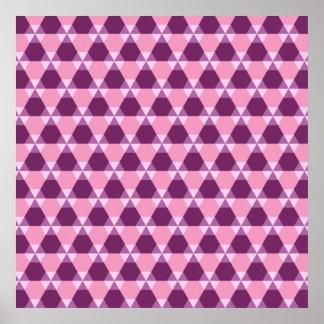 Poster púrpura y rosado magenta del