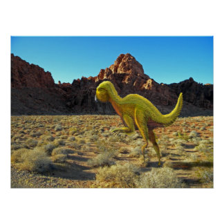Poster ~Quantasaurus Running in Desert