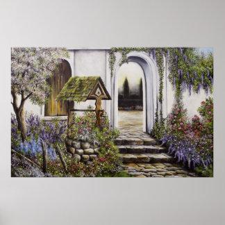 Poster que desea a jardín bien colores más brillan