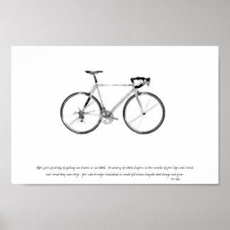 poster que monta en bicicleta