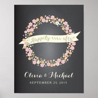 Poster que se casa de la guirnalda II floral encan