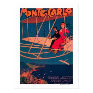 Poster que se divierte de la aviación postal