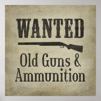 Poster: Querido - armas y munición viejos