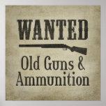 Poster: Querido - armas y munición viejos Póster