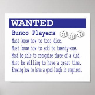 Poster querido de los jugadores de BUnco