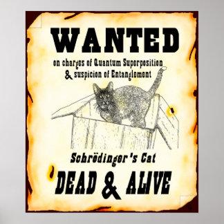"""Poster """"querido"""" del gato de Schrodinger"""