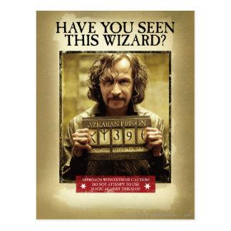 Poster querido negro de Sirius Tarjeta Postal