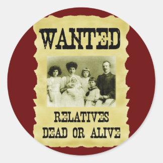 Poster querido pegatina redonda