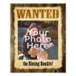 Poster querido personalizado, foto grande w/Text