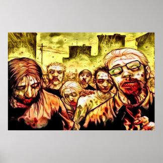 Poster radiactivo de los zombis