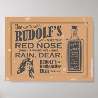 Poster radiactivo del elixir de Rudolf