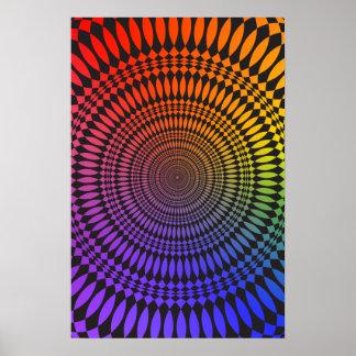 Poster: Rainbow Vertigo: Psychedelic Abstract Poster