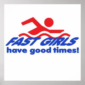 Poster rápido de los chicas