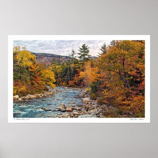 Poster rápido del otoño del río