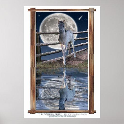 Poster raro de la impresión del arte de la fantasí