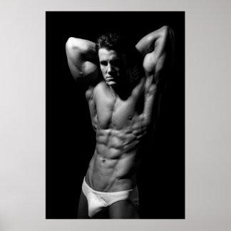 Poster rasgado del Bodybuilder