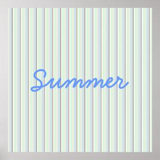 Poster rayado del verano