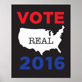 Poster real 2016 de América del voto