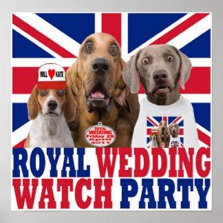 Poster real divertido del fiesta del reloj del bod