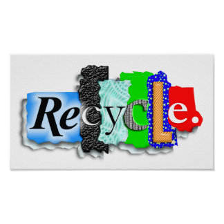 """Poster:  """"RECYCLE"""""""