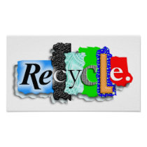 "Poster:  ""RECYCLE"" Poster"