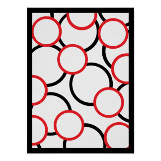 Poster Red and Black Circles