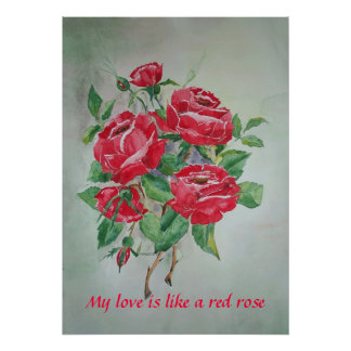 Poster Red roses
