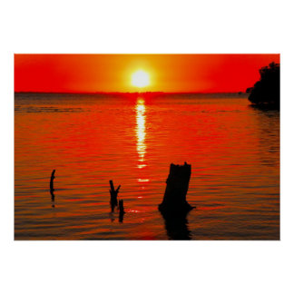 Poster, Red Sunset Poster