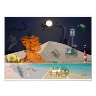 Poster  REFLECTIONS OF OZ  Moon Over Sand Dune Photo