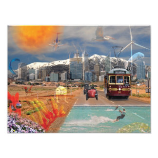 Poster REFLECTIONS OF OZ Mountain to the Sea Photograph