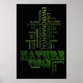 Poster relacionado ambiental del texto de la natur