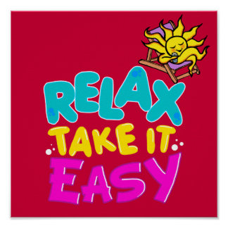 poster RELAX TAKE IT EASY
