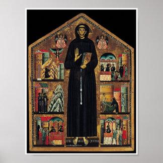 Poster religioso de la impresión del arte del vint