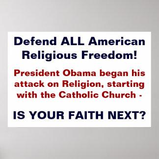 Poster religioso de la libertad