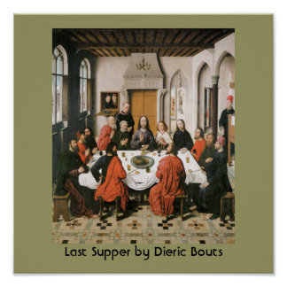 Poster religioso del vintage de la última cena