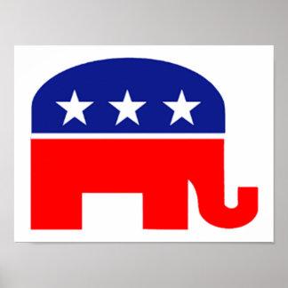 poster republicano del elefante