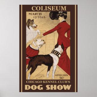 Poster restaurado del club de la perrera de Chicag